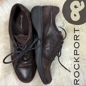 "Rockport ""Tyler"" Walking Sneaker Brown Leather 8"